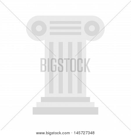 Ancient Ionic pillar icon in flat style on a white background vector illustration