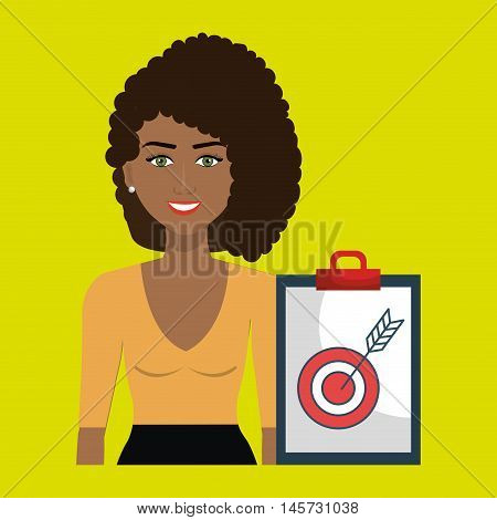 woman clipboard tool app vector illustration eps 10