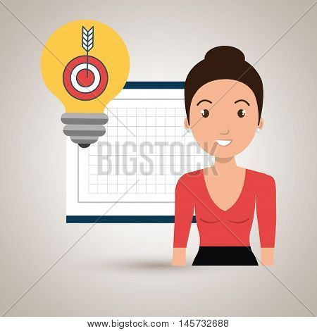 woman board tools app vector illustration eps 10