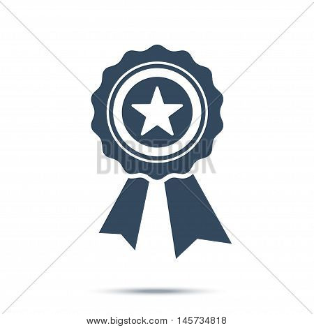 Best first prize medal icon. Stock vector illustration