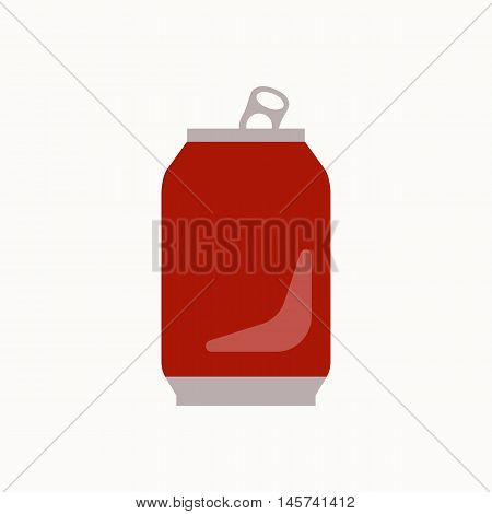 Metal can waste flat concept.  Vector illustration of sorting Metal can waste. Icon of Metal can waste for garbage disposal design.  Metal can waste sorting management .