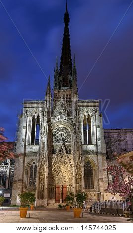 Rouen Cathedral is a Roman Catholic Gothic cathedral in Rouen Normandy France. Evening