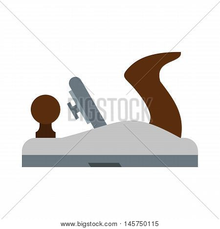 Planer on wood icon in flat style isolated on white background. Tool symbol vector illustration