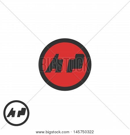 Initials Atp Logo Negative Space A T P Letters Media Branding Round Emblem Business Card, Tech Ident