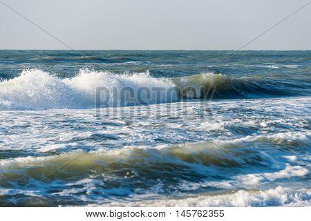 landscape raging sea raging, reflection, scenic panorama