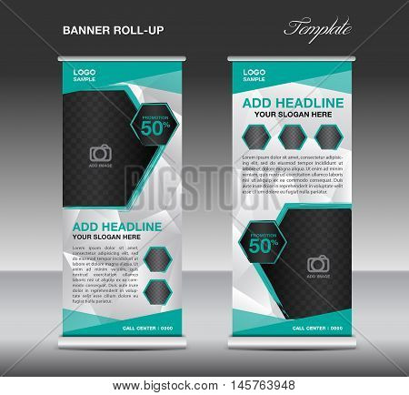 Green Roll Banner Vector Photo Free Trial Bigstock