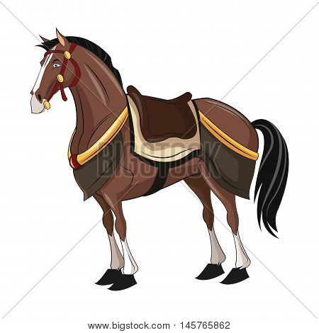 Horse animal cartoon with uniform icon. comic design. Colorful design. Vector illustration