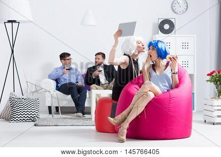 Party Women Having Fun
