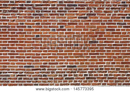 Red brick wall ideal for a background