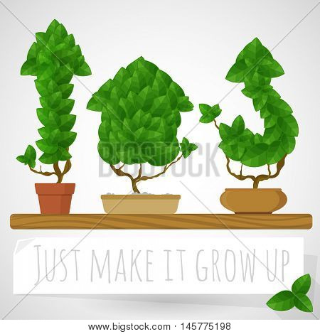 Green growing arrows. Business and start up vector concept.