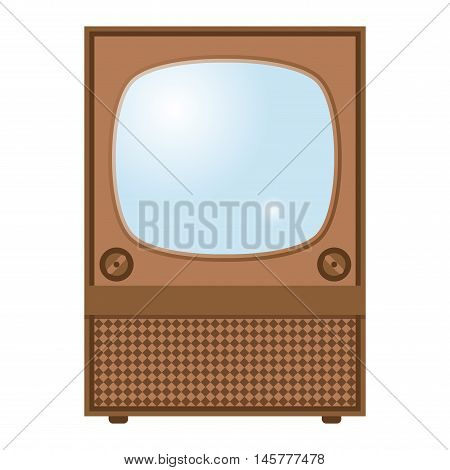 Retro TV screen lcd monitor template vector illustration. Electronic device TV screen infographic. Technology digital device old TV screen, size diagonal display vector illustration. Screen monitor