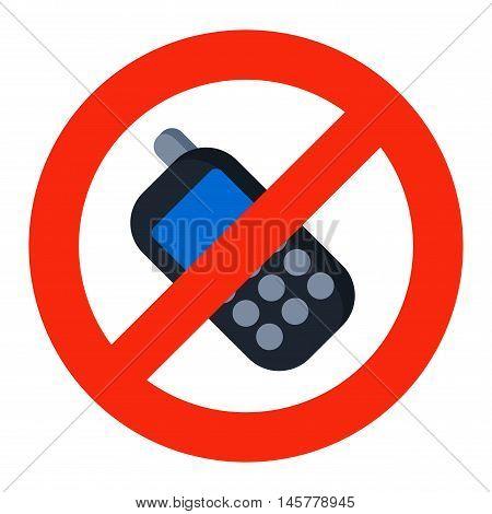 Prohibition music or phone talk sign vector illustration. Warning danger symbol prohibiting sign. Forbidden safety information prohibiting sign. Protection signs warning information sign.