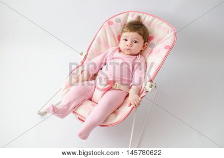 Baby Girl On A Bouncer
