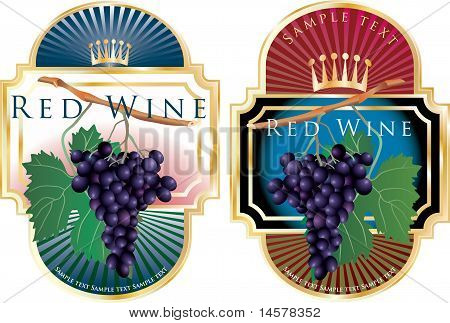 Blue Wine Labels