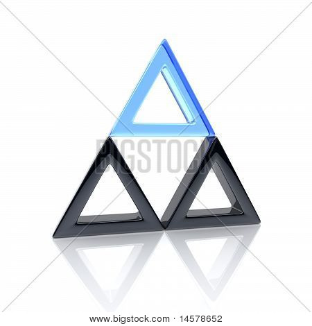 Unique Glass Triangle