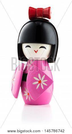 Japanese Kokeshi Doll Isolated On White