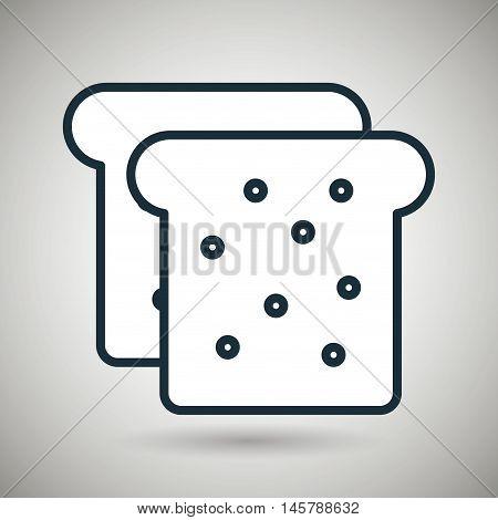bread bakery chop icon vector illustration eps10