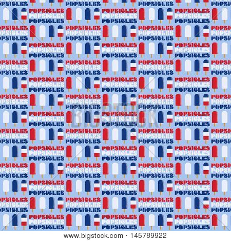 Patriotic Popsicles decorate a colorful pattern perfect for  digital scrapbooking and other uses.