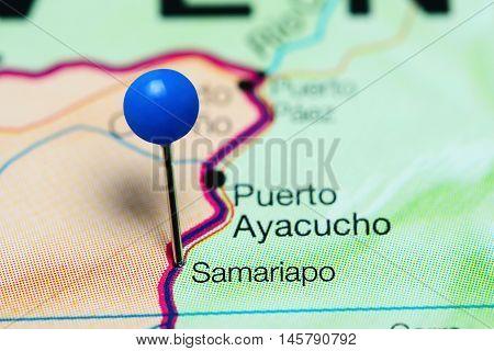 Samariapo pinned on a map of Venezuela