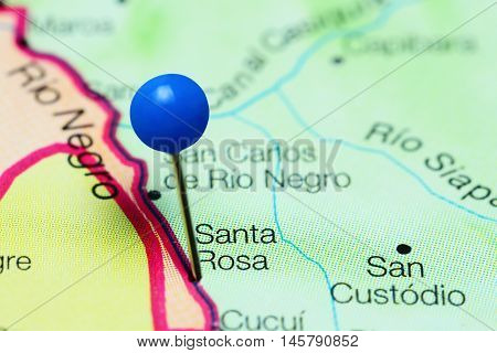 Santa Rosa pinned on a map of Venezuela