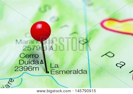 La Esmeralda pinned on a map of Venezuela