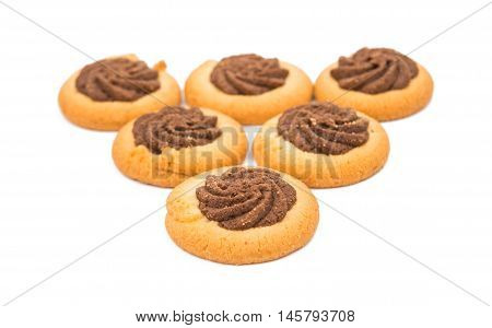 cookies chocolate dessert on a white background