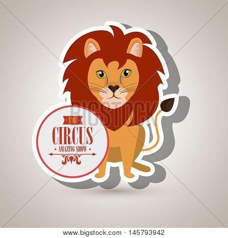 lion circus fun icon vector illustration eps10 eps 10
