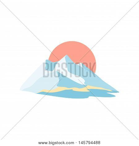 Mountain island. Symbolic image. Series consisting of mountains