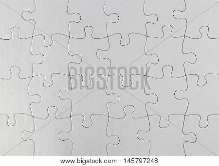 Closeup of jigsaw puzzle pattern