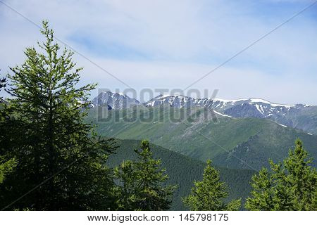Alpine landscape in Altai Mountains, Siberia, Russian Federation