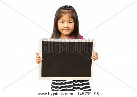 Child Holding Black Board
