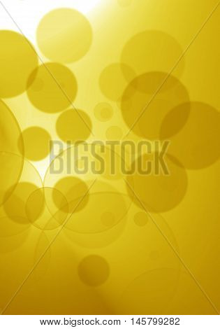 Beautiful bokeh lights on the gold background
