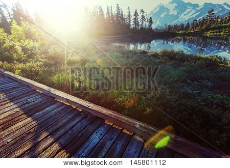 Picture lake and mount Shuksan, Washington