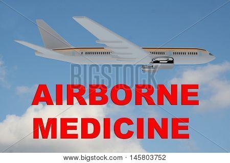 Airborne Medicine Concept