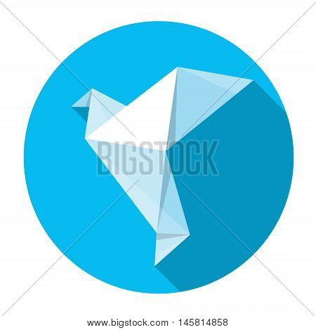 World Peace Day Poster White Origami Dove Bird Flat Vector Illustration