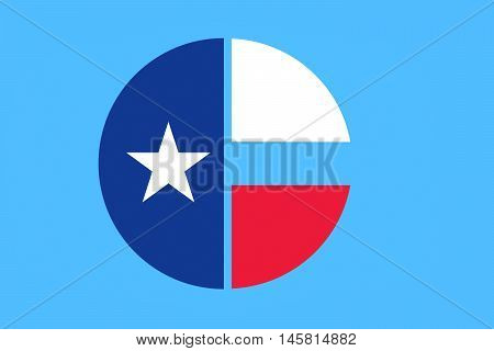 Flag of Collin County in Texas United States