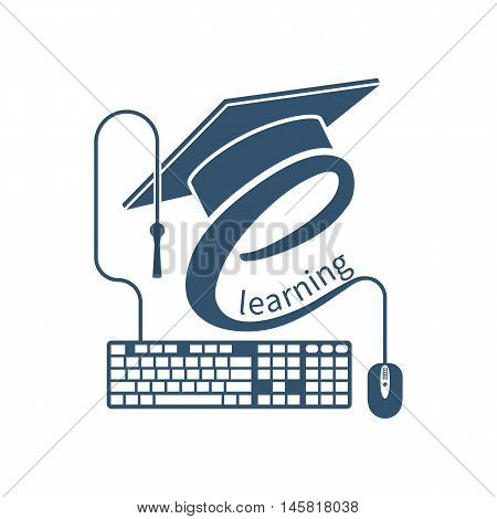 E-learning Logo, Vector