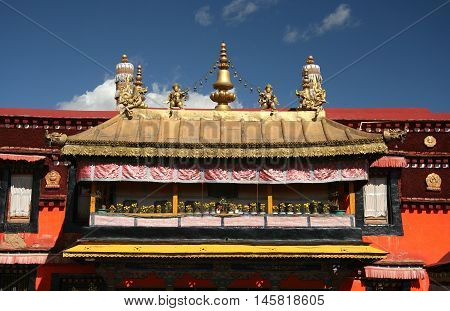 Decor of the Jokhang Temple, China, Tibet, Lhasa