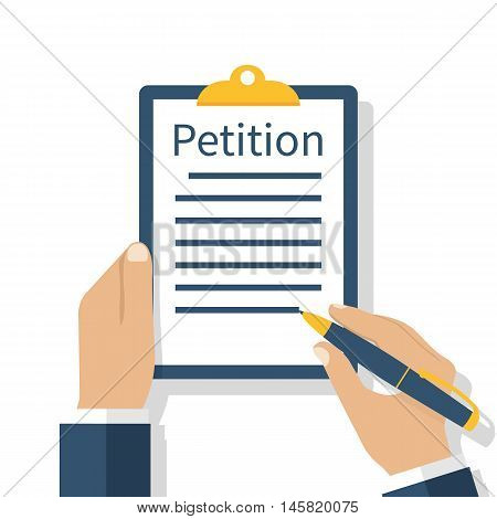 Petition Concept, Vector