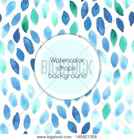 Light blue background with watercolor petals elements