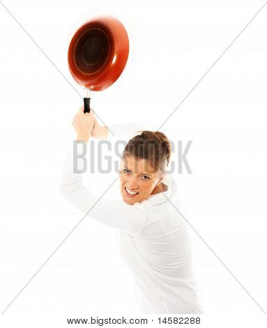 Housewife With Frying Pan