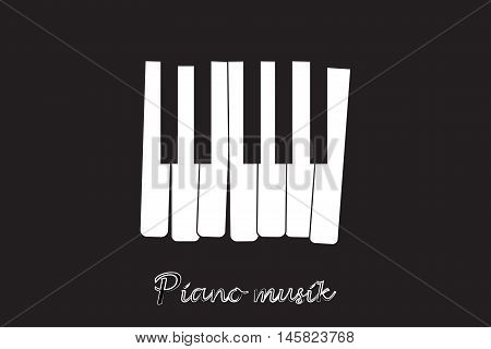 Piano. Jazz music festival, poster background template. Music piano keyboard. Can be used as poster element or icon. Vector illustration.