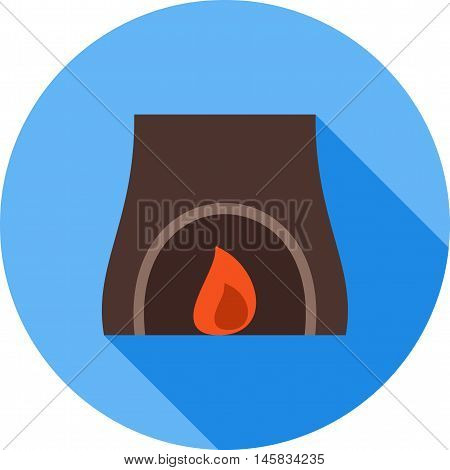 Fire, home, winter icon vector image.Can also be used for spa. Suitable for mobile apps, web apps and print media.