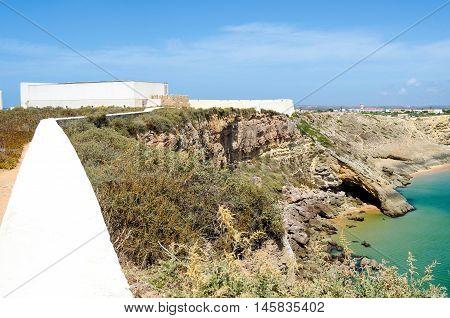 View of  Sagres city, Algarve region, Portugal