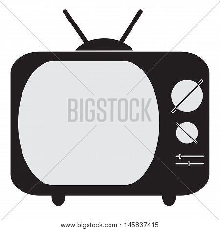 Old TV (Television) icon Television icon design Retro tv icon Flat design