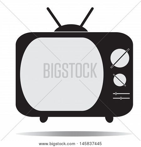 Old TV (Television) icon Television icon design Retro tv icon Flat design