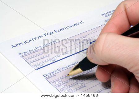 Antrag auf Beschäftigung