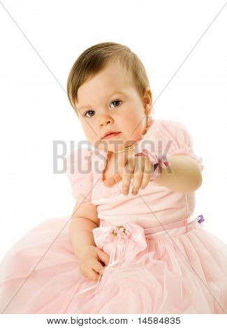Little Girl Pointing