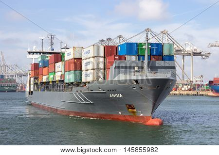 Container Ship Rotterdam