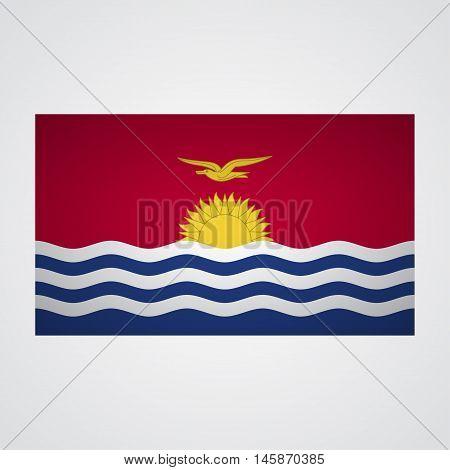 Kiribati flag flag on a gray background. Vector illustration